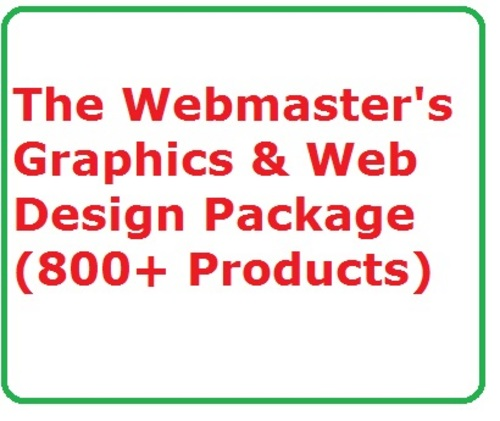 Product picture The Webmasters Graphics & Web Design Package  (800+ item)