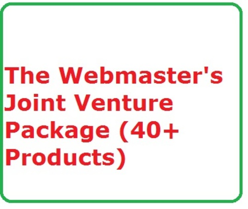 Product picture The Webmasters Joint Venture Package (40+ Products)