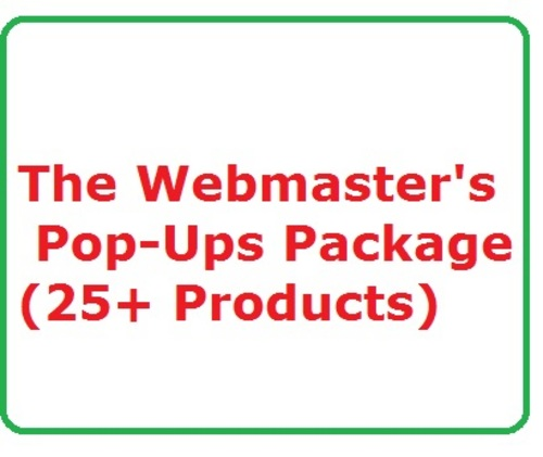 Product picture Webmasters Pop-Ups Package Work at Home, Home Jobs, Make Money Online Websites