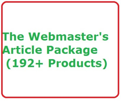 Product picture Established Internet Website Business The Webmasters Article Package with MRR