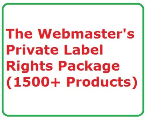 Product picture The Webmasters Private Label Rights Package